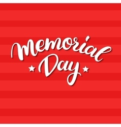 Memorial Day card with handwritten vector image