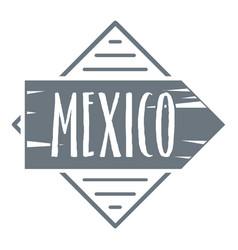 Mexico logo vintage style vector