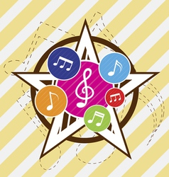 music star festival vector image