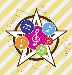 music star festival vector image vector image