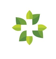 natural health logo vector image