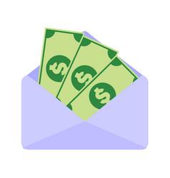 Paper money salary envelope graphic vector