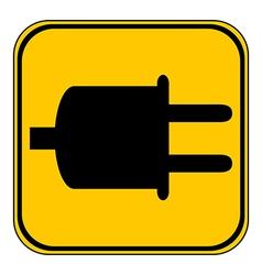 Power cord sign button vector image