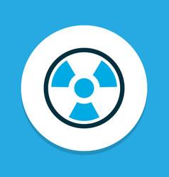 radiation icon colored symbol premium quality vector image