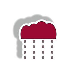 Rain icon in trendy sticker style vector