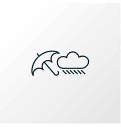 rainy weather icon line symbol premium quality vector image