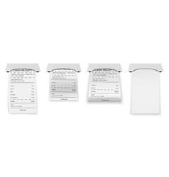 Realistic atm bills paper printed bill or bank vector