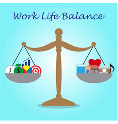 scale of work life balance business and leisure vector image