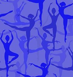 Seamless pattern of ballet dancers vector