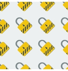 Seamless pattern with yellow safety lock vector image