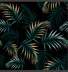 Seamless tropical pattern vivid tropic foliage vector