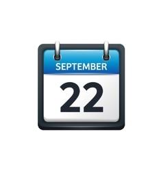 September 22 Calendar icon vector