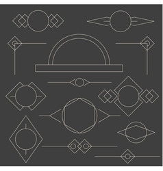 Set of linear graphic stylized frames and borders vector image