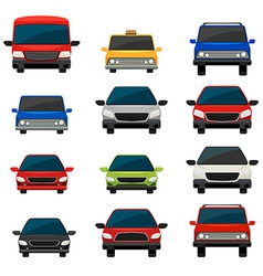 Set of tinted vehicles vector image