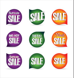 summer sale retro badge collection 4 vector image