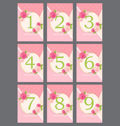 Template anniversary congratulations greeting vector