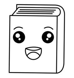 text book kawaii character vector image