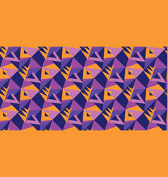 violet and orange geometric shapes vector image
