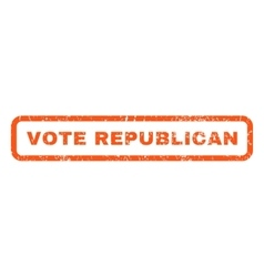 Vote Republican Rubber Stamp vector