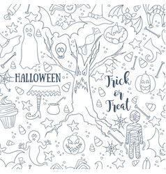 white halloween seamless patterns endless vector image