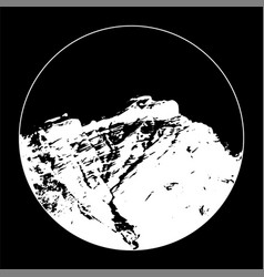 White miss cascade mountain in a circle vector