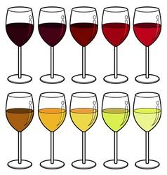 wine colour vector image