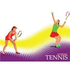 woman tennis poster vector image