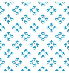 blockchain blue creative seamless pattern vector image