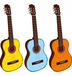 classic guitars vector image vector image