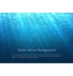 Deep blue water background with bubbles vector image vector image