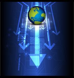 globe digital future technology vector image