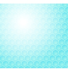 Seamless abstract blue hexagon pattern vector image vector image