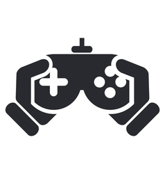 video game icon vector image vector image