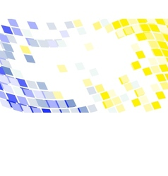 abstract round pixel points mosaic background vector image