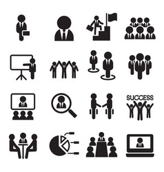 business teamwork training seminar meeting vector image vector image
