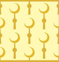 crescent muslim moon symbol star seamless pattern vector image
