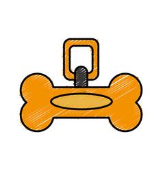 dog bone collar icon vector image vector image