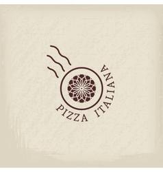 Pizzeria logo template vector image