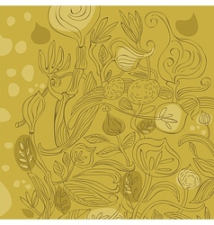 Various Plants Background vector image vector image
