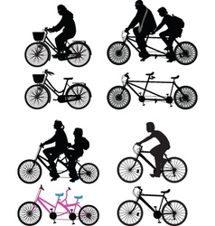 bicyclist silhouette vector image