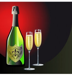 champagne background vector image vector image
