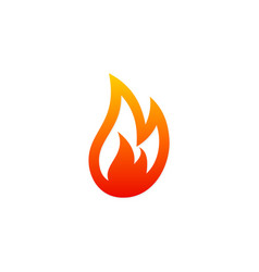 fire gas abstract logo vector image