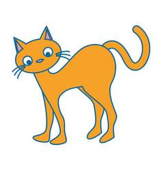 funny cute cat icon vector image vector image