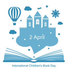 international childrens book day vector image vector image