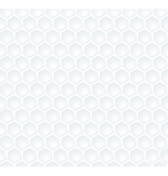Seamless abstract white hexagon pattern vector image
