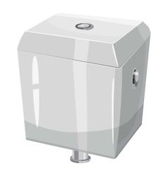 Toilet water tank icon cartoon style vector image