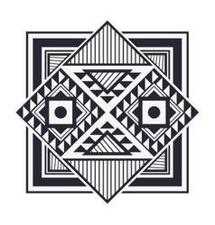 tribal geometric pattern icon vector image