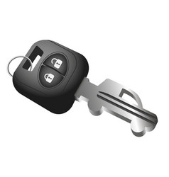 Car key and car symbol vector