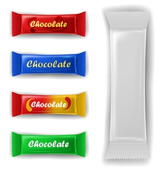 Chocolate bar package set vector image vector image