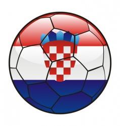 croatia flag on soccer ball vector image